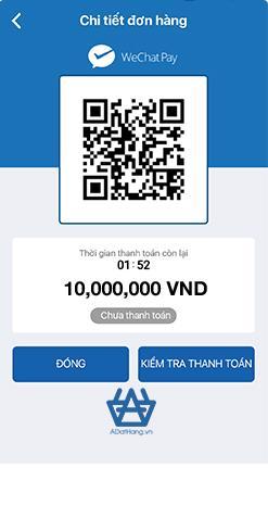 Chuyển khoản bẳng WeChatPay