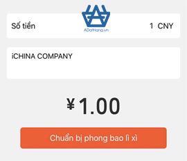 Gửi hồng bao lì xì trong WeChat