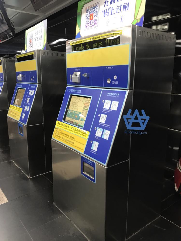 Máy mua vé tàu điện ngầm